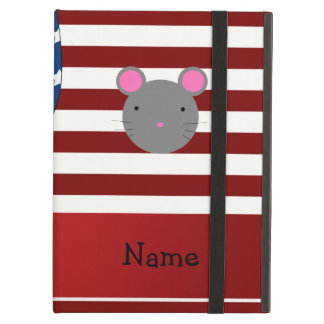 Personalized name Patriotic mouse Case For iPad Air
