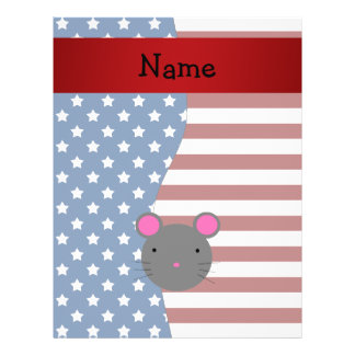 Personalized name Patriotic mouse Personalized Flyer