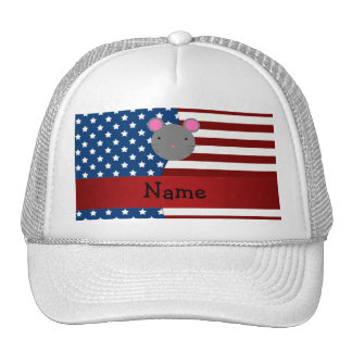 Personalized name Patriotic mouse Mesh Hat