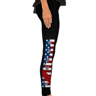 Personalized name Patriotic mouse Legging
