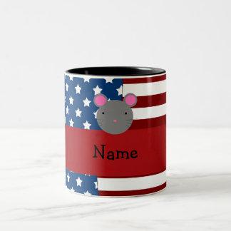 Personalized name Patriotic mouse Mug