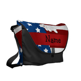 Personalized name Patriotic seal Courier Bag