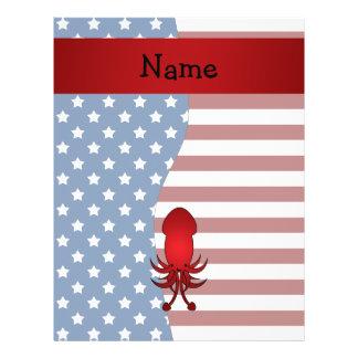 Personalized name Patriotic squid 21.5 Cm X 28 Cm Flyer