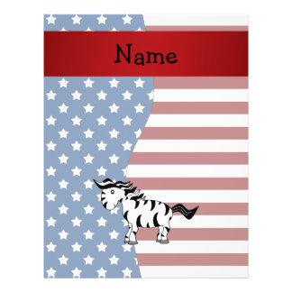 Personalized name Patriotic zebra Flyer Design