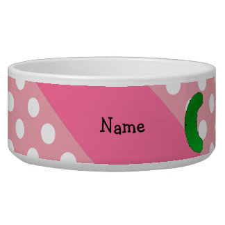 Personalized name pickle pink polka dots