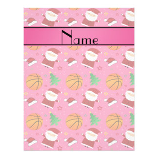 Personalized name pink basketball christmas full color flyer