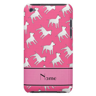 Personalized name pink bull terrier dogs iPod Case-Mate cases
