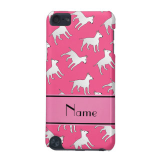 Personalized name pink bull terrier dogs iPod touch (5th generation) case