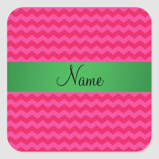 Personalized name pink chevrons sticker