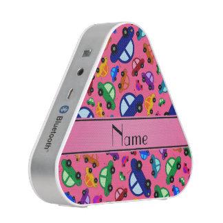 Personalized name pink cute car pattern speaker