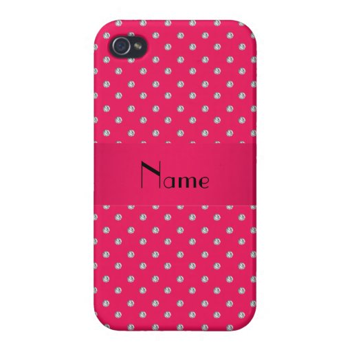 Personalized name pink diamonds iPhone 4/4S cover