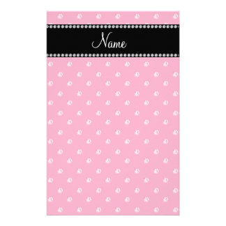 Personalized name Pink diamonds Personalized Stationery