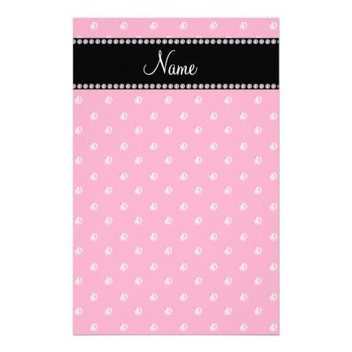 Personalized name Pink diamonds Personalized Stationery