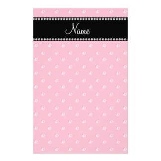 Personalized name Pink diamonds Stationery
