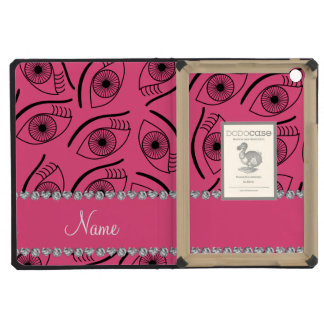 Personalized name pink eye pattern iPad mini case