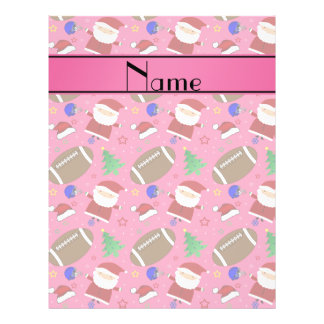 Personalized name pink football christmas full color flyer