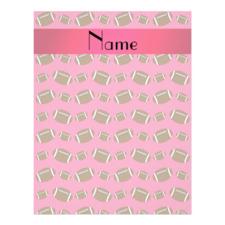 Personalized name pink footballs flyers