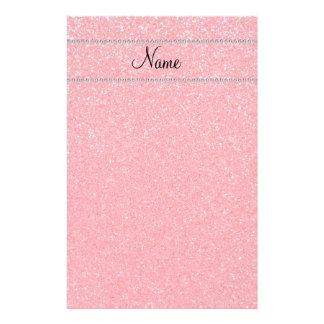 Personalized name pink glitter diamonds personalised stationery