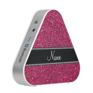 Personalized name pink glitter speaker