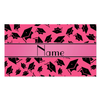 Personalized name pink graduation cap pack of standard business cards