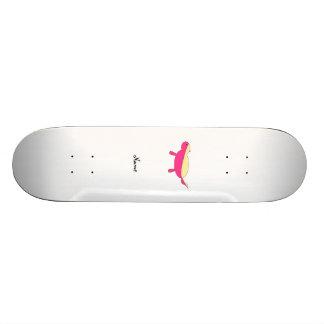 Personalized name pink honey badger 21.6 cm skateboard deck