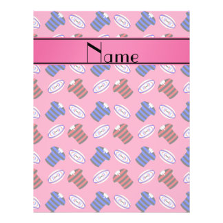 Personalized name pink jerseys rugby balls flyer