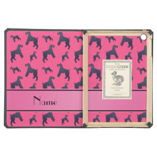 Personalized name pink Kerry Blue Terrier dogs iPad Air Covers