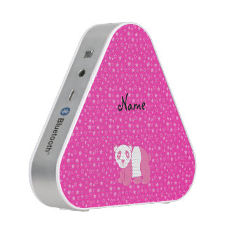 Personalized name pink panda pink stars