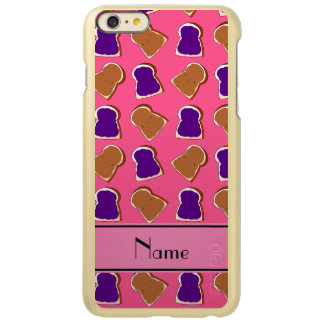 Personalized name pink peanut butter jelly incipio feather® shine iPhone 6 plus case