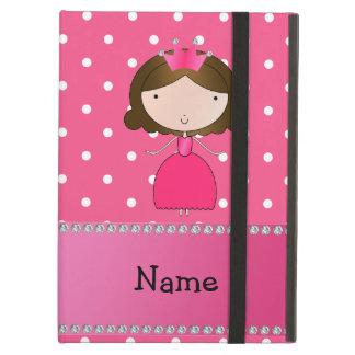 Personalized name pink princess pink polka dots iPad covers
