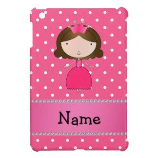 Personalized name pink princess pink polka dots iPad mini cover