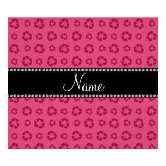 Personalized name pink recycling pattern print