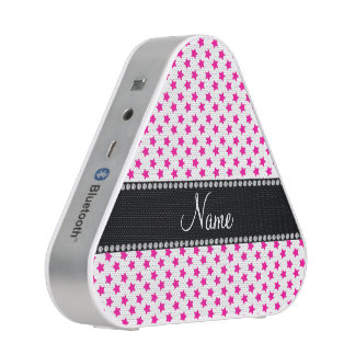 Personalized name Pink stars Speaker