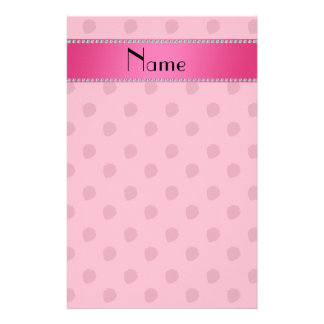 Personalized name pink strawberries pattern customized stationery
