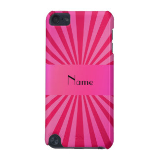 Personalized name pink sunburst iPod touch 5G cover