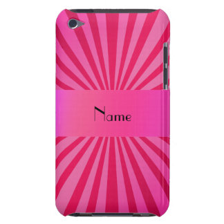 Personalized name pink sunburst iPod touch Case-Mate case