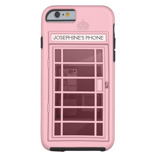 Personalized Name Pink Telephone Box iPhone 6 case