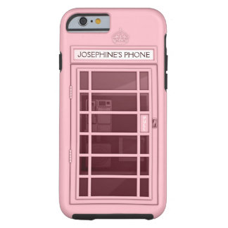 Personalized Name Pink Telephone Box iPhone 6 case Tough iPhone 6 Case