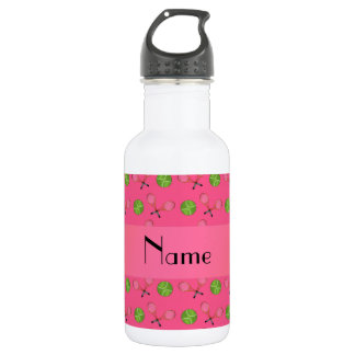 Personalized name pink tennis balls 532 ml water bottle