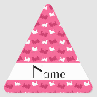 Personalized name pink train pattern stickers