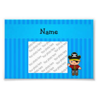 Personalized name pirate blue stripes photo