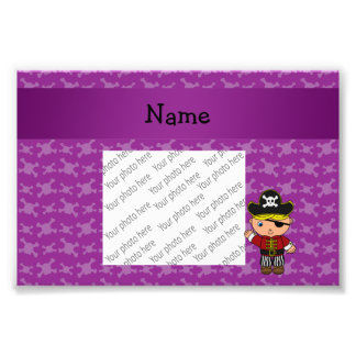 Personalized name pirate purple skulls photo