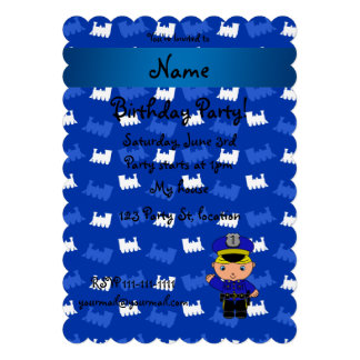 Personalized name policeman blue trains custom announcements