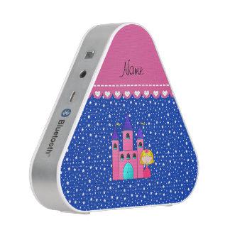Personalized name princess castle blue stars speaker