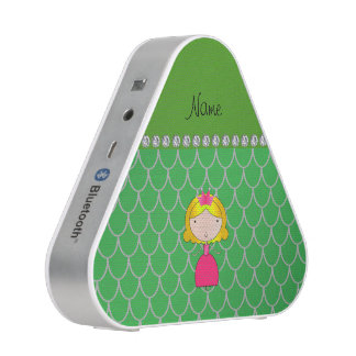 Personalized name princess green dragon scales