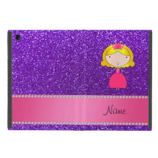 Personalized name princess indigo purple glitter cover for iPad mini
