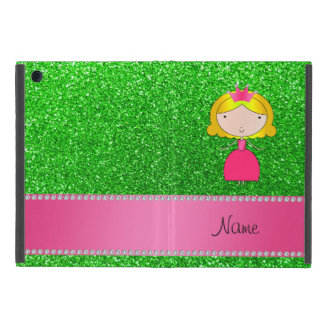 Personalized name princess lime green glitter covers for iPad mini