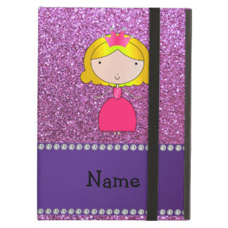 Personalized name princess pastel purple glitter iPad air covers