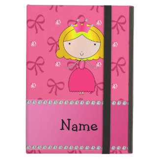 Personalized name princess pink bows and diamonds iPad air case