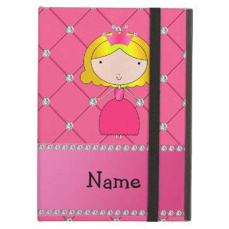 Personalized name princess pink diamonds iPad cover